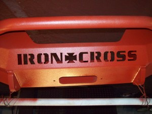 iron cross red bumper