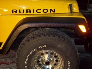 yellow jeep fender black